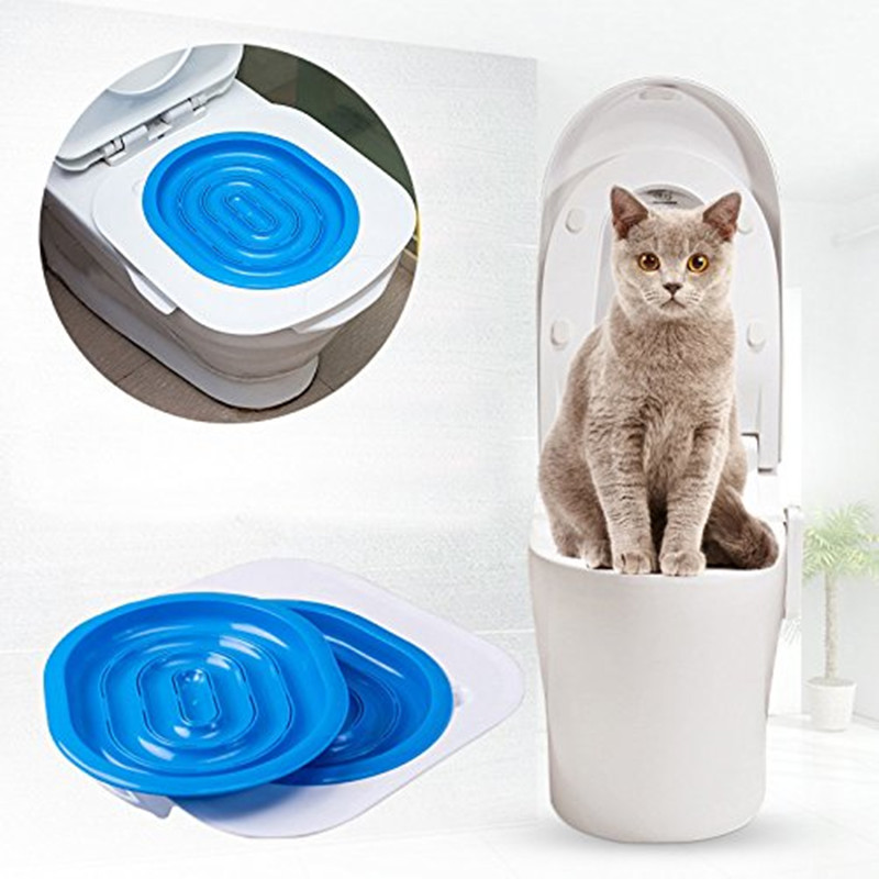 Cat Toilet Training Kit Pets Toilet Trainer Pet Little Toilet Trainer Convenient Toilet Cleaning Training Supplies Dropshipping