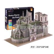 Paper Model Diy Notre Dame de Paris Enlighten Blocks Construction Brick Block font b Toys b