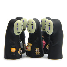 9cm Mini Spirited Away No Face Man Action Figures Dolls Viny