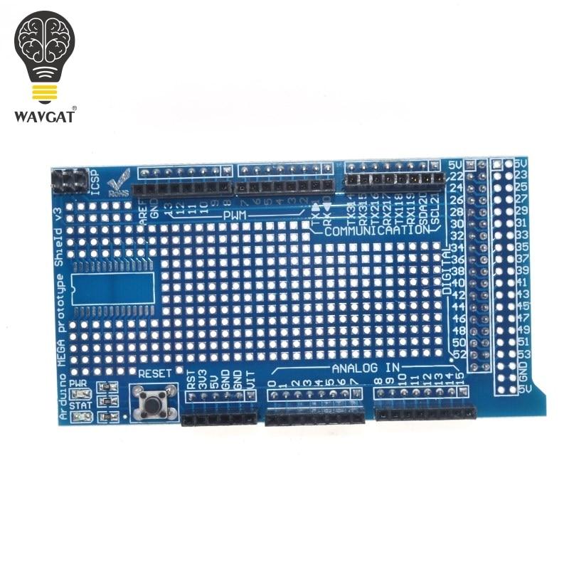 US $1 75 12% OFF|WAVGAT MEGA 2560 R3 Proto Prototype Shield V3 0 Expansion  Development Board + Mini PCB Breadboard 170 Tie Points for arduino DIY-in