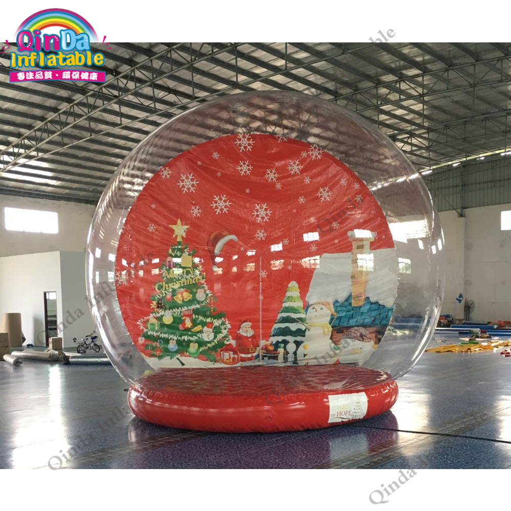 3m diameter giant inflatable human size snow globe for Christmas decorations vox mini3 g2 ivory