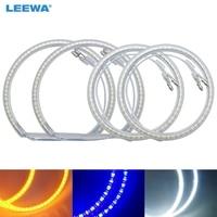 LEEWA 2X131mm 2X106mm 4pcs/Set Car LED Halo Rings Angel Eyes DRL Head Lamp For BMW E90 White/Blue/Yellow #CA4754