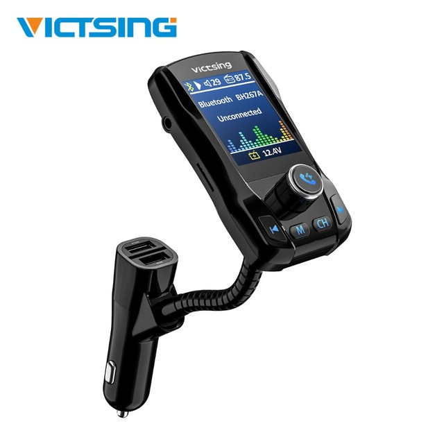 US $17 62 35% OFF|VicTsing New Bluetooth FM Transmitter 1 8 Inches Large  Size Color Display Screen Car Kit Hands Free Wireless Adapter For Car-in