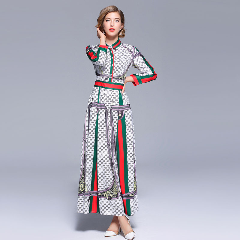 44fa81fca9435e LARCI Robe Vintage Print Summer Maxi Dress Zomerjurken 2018 Dames Women  Long Retro Party Dress Robe Longue Femme N7532