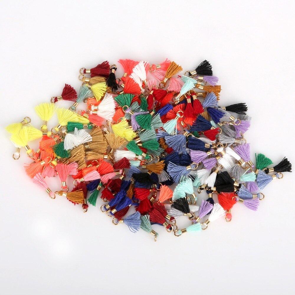 10 шт. цветов мини 10 мм кисточка бахрома кулон сделай сам для вечеринки висячие кольца шнуры кисточка отделка одежды шторы Ювелирные изделия ...