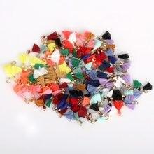 Pingente de franja 10mm, cordas de borla para pendurar em anel, faça você mesmo, decoração de joias, cortinas de vestuário com borla, 10 peças borlas renda