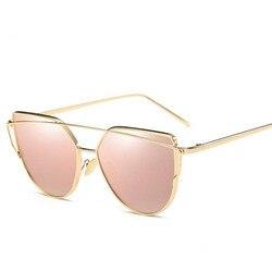 2017 brand retro cat eye sunglasses women vintage fashion rose gold mirror eye glasses unique flat.jpg 250x250