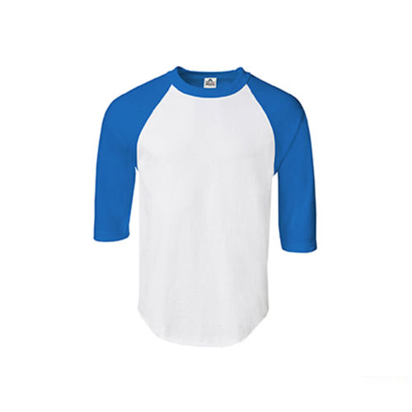 T shirt men new raglan 3 4 sleeve baseball mens plain tee for Hawks t shirt jersey