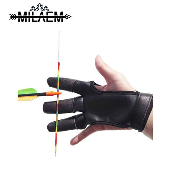 1pc Archery Glove Guard Finger Right Hand Left Leather Protector Shooting Accessories