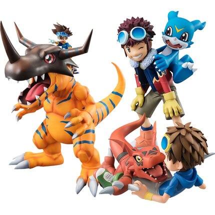 2019 Digimon Adventure anime Figure Greymon/Agumon/TAICHI/Sora/Takeru/Hikari/Gomamon/Garurumon/Yamato/Daisuke Renamon figurine Nibbler