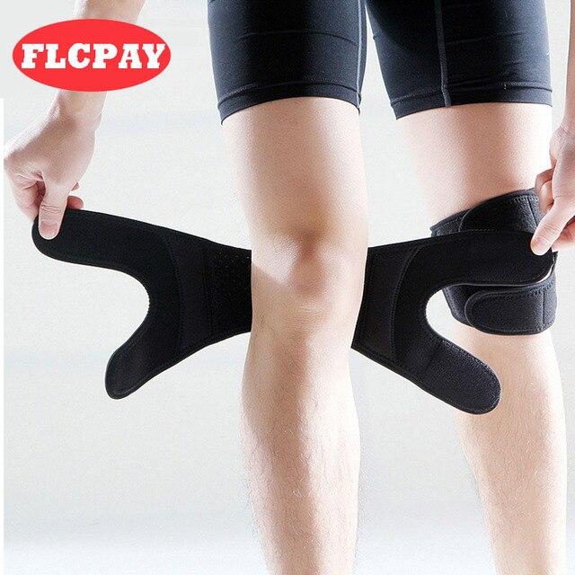 מגיני ברכיים מתכווננת 1 יחידות עבור משותף בטיחות ספורט תמיכת אלסטיות Brace הברך הגנת שרוול ריצת כושר ספורט Brace מגני ברכיים