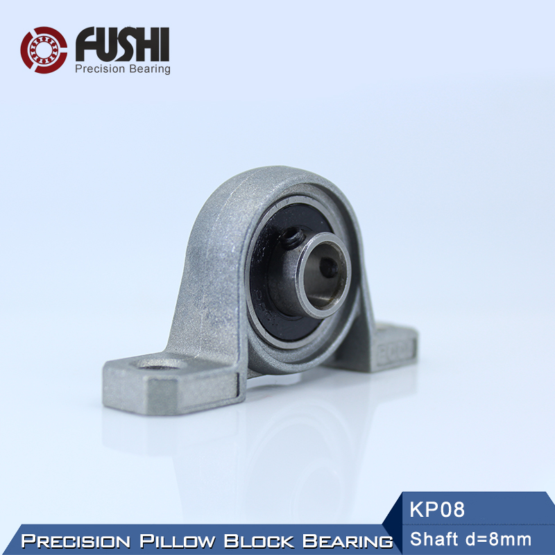 1PC KP8 10 12 15 17 20 25 30 35mm Pillow Block Ball Bearing Support Zinc Alloy