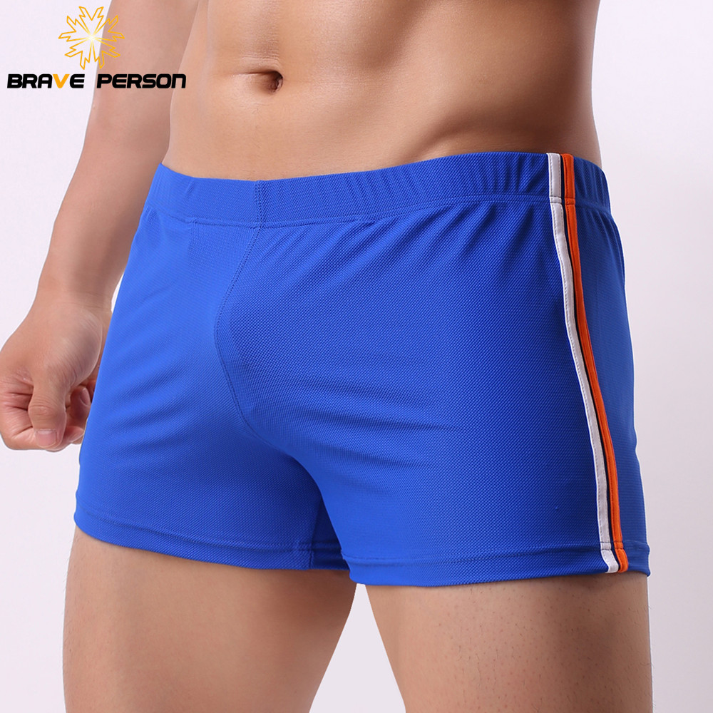 Brand Underwear Men Boxers Shorts Mesh Breathable Fabric Low waist Sexy Mens Underwear Boxers Penis Pouch Casual Shorts 2019 New in Boxers from Underwear Sleepwears