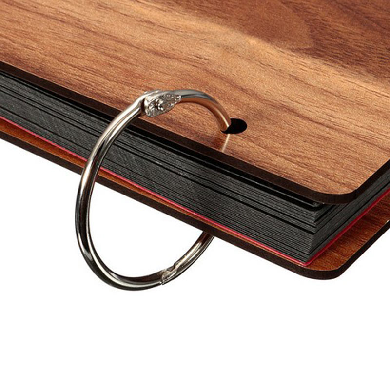 Romotion Price 6pcs Metal Loose Leaf Book Binder Hinged Rings Keychain Album Scrapbook Craft