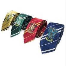 Гриффиндор Слизерин Поттер галстук Косплей Аксессуары волшебный Хогвартс Униформа галстук Гриффиндор Hufflepuff Ravenclaw галстук