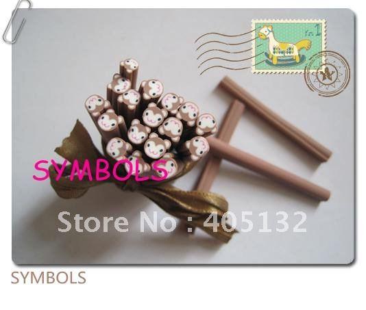 E-20 100 шт 5 мм Милая обезьяна Полимерная глина трость Необычные дизайн ногтей Полимерная глина трость