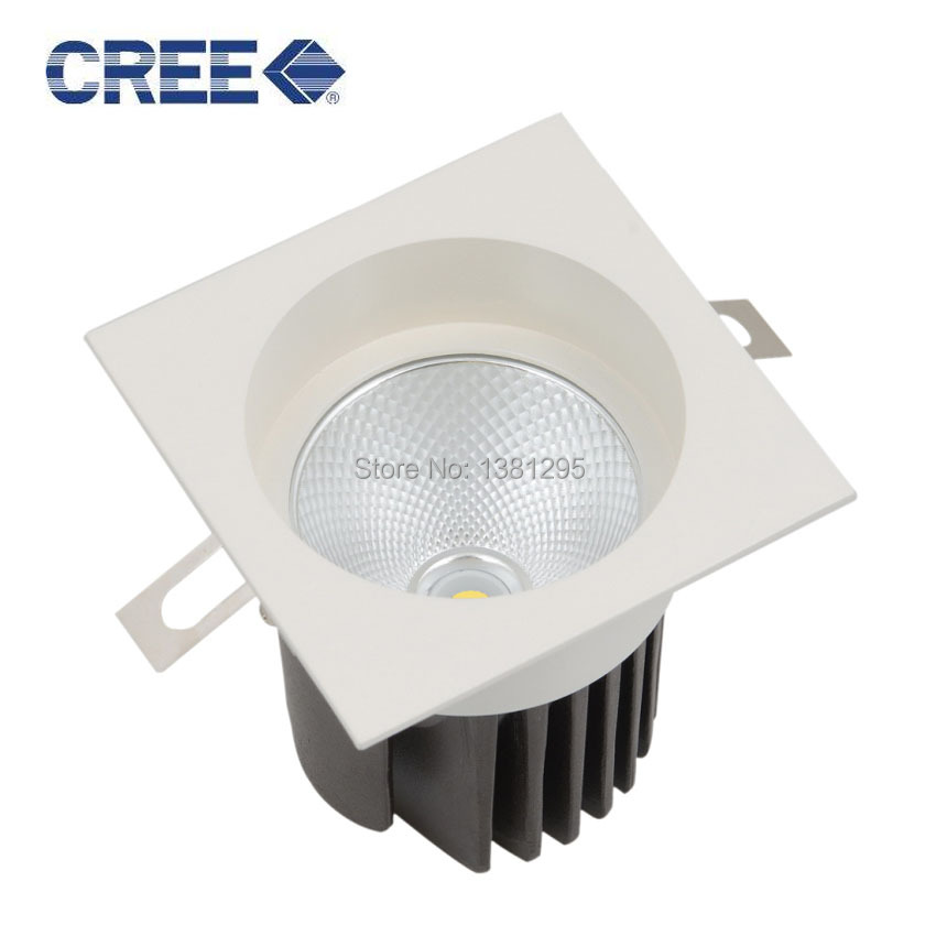 Us 391 2 20 Off 20pcs Lot Led Downlight Cree Cob 8w 12w 20w Square Recessed Ceiling Down Light Spot 220v 240v Indoor Home Lighting In