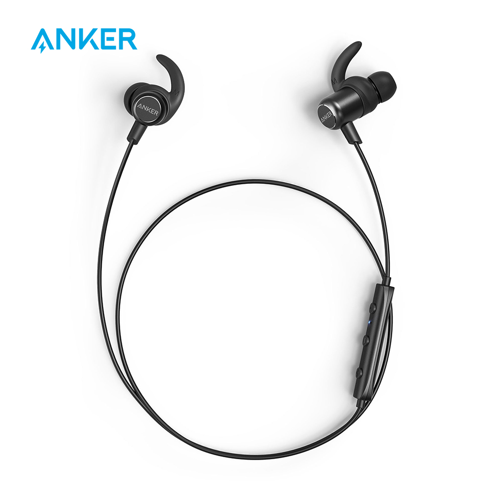 Anker SoundBuds Slim Bluetooth Headphones Bluetooth 5 Magnetic Wireless Earbuds with 10 Hour Playtime IPX7 Waterproof