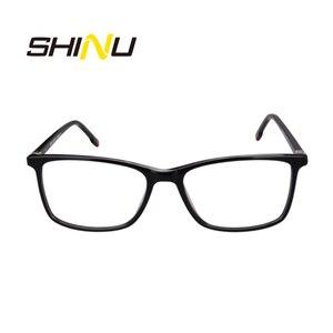 Image 2 - SHINU Marchio di Occhiali Multifocali Progressive Occhiali Da Lettura Diottrie Occhiali Da Vista Per Vicino E Lontano Distanza di Occhiali Da Vista In Acetato