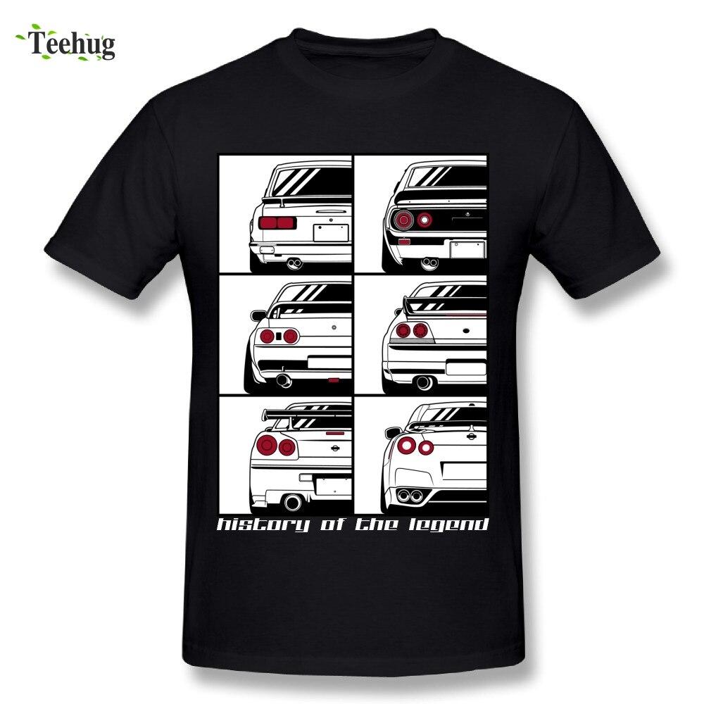Nouveauté Hommes Skyline Imprimé Graphique T-Shirt O-cou Loisirs Coton RTM Voiture T-shirts