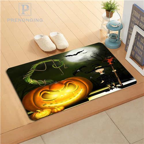 Custom Halloween Doormat Print slip-resistant Mats Floor Bedroom Living Room Rugs 40x60cm 50x80cm Free Shipping 171128-37