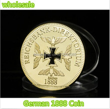 DHL free shipping 100pcs/lot Gold Clad Reichsbank Aachen 1888 1 OZ GERMAN COIN