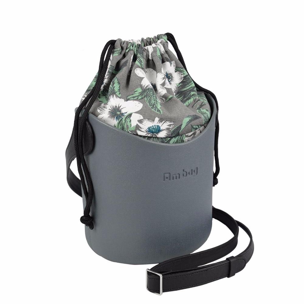 ANLAIBEIER Ambag EVA Obag O Basket Style Basket With Handles Straps Canvas String Insert Women Shoulder Bag Messenger Bag