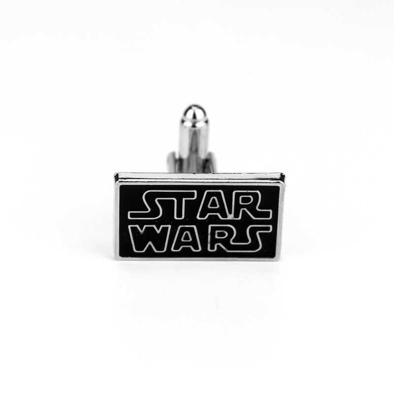 Dongsheng Звездные войны запонки Футболка Звездные войны письмо черный запонки брошь кнопки для Для мужчин подарок ювелирных изделий-40