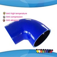 (1pc) ID:95mm 102mm 114mm 127mm 90 Degree Standard Elbow silicone hose Coupler Turbo Intake Hose