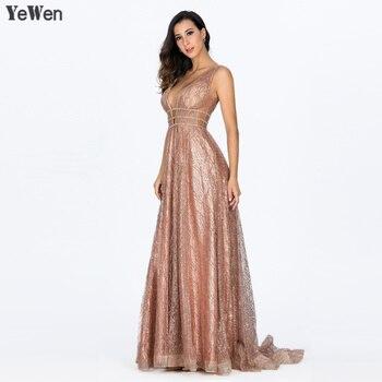 Deep-V Evening Dresses 2019 Backless Prom Formal Dress Women Elegant Evening Gowns 1