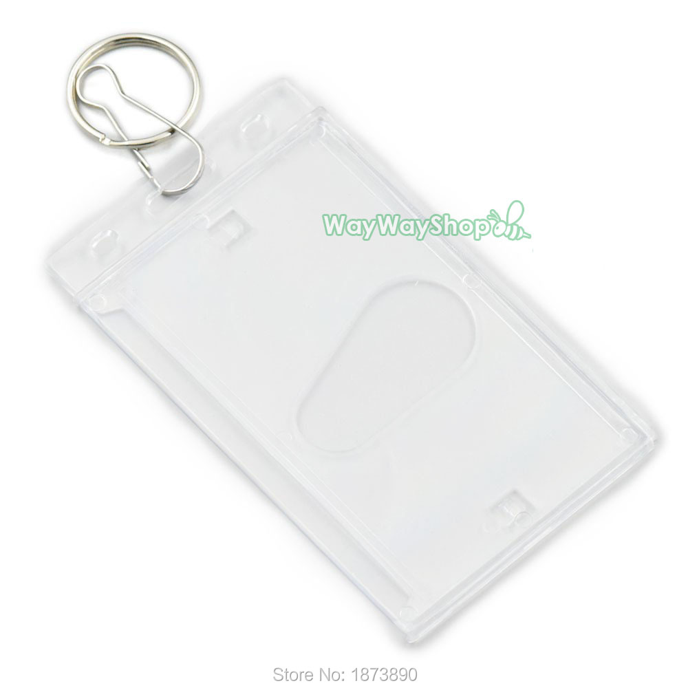 aliexpresscom buy 10 sets id card holder keyring hook badge reel retractable strap lanyard clip vl clear from reliable clip in wavy hair suppliers on - Card Holder With Keyring