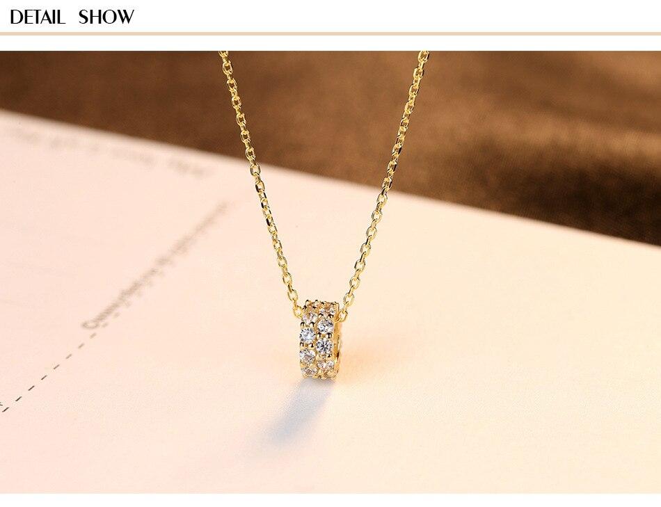 S925 sterling argent double rangée pendentif en zircon collier chaîne de clavicule 925 argent bijoux C031