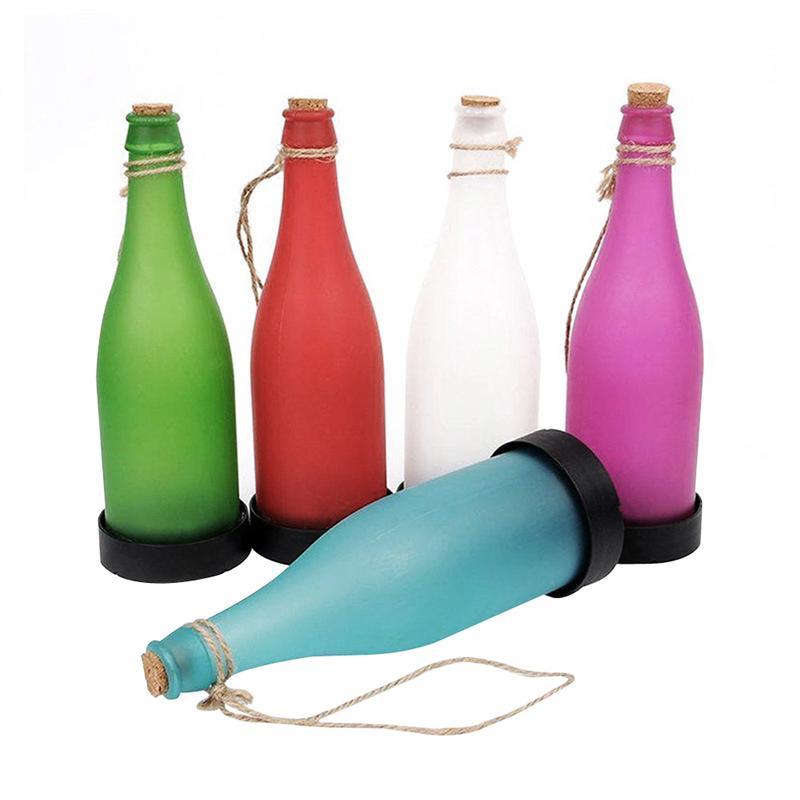 5pcs Plastic LED Solar Bottle Lights Wine Bottle Light Garden Hanging Lamp for Party Outdoor Garden Courtyard Patio