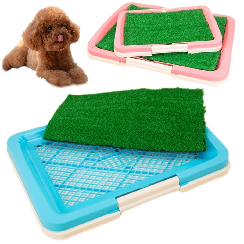 Pet Cat Dog Grass Toilet Mat Indoor Potty Trainer Grass Turf Patch Pad Pet Supplies Pet Toilet Bedpan Kitten Dog Clean Toilette