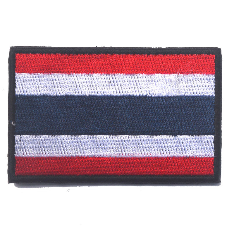 US $1 94 12% OFF| Embroid Thailand Country Flag patch hook outdoor sport  tactical military patches combat morale for coat hat custom-in Patches from