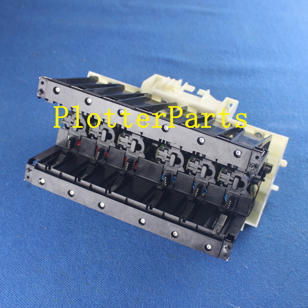 Q6683-60188 Left ink supply station for HP Designjet T610 T620 T770 T790 T1100 T1200 T1300 plotter parts Original used refurbished q6683 60195 24inch plotter ink supply tubes for hp designjet t610 t1100