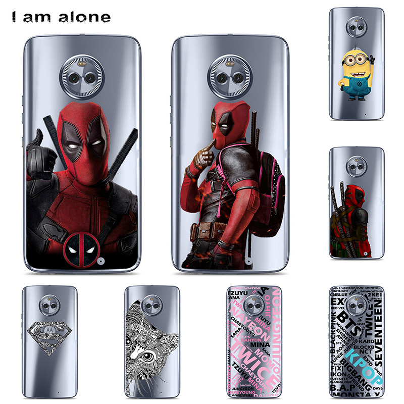 For Motorola Moto <font><b>X4</b></font> <font><b>XT1900</b></font> 5.2 inch Solf TPU Silicone Color Paint DIY Case Mobile Phone Cover Bag Cellphone Housing Shell Skin image