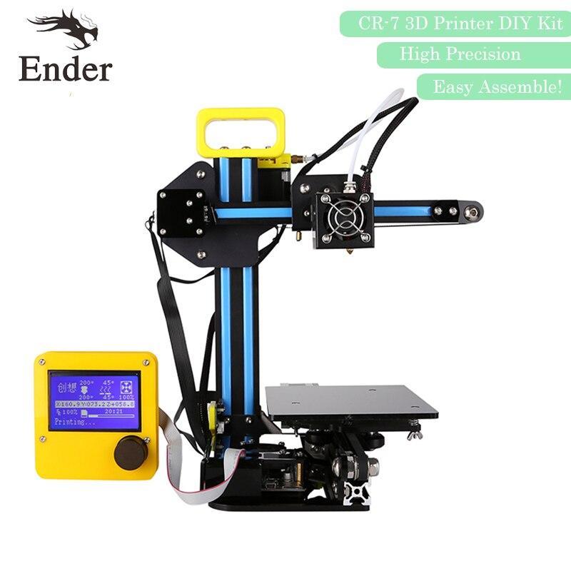 2017 High Quality CR 7 3D Printer KIT DIY Reprap prusa i3 printer 3d Mini Machine