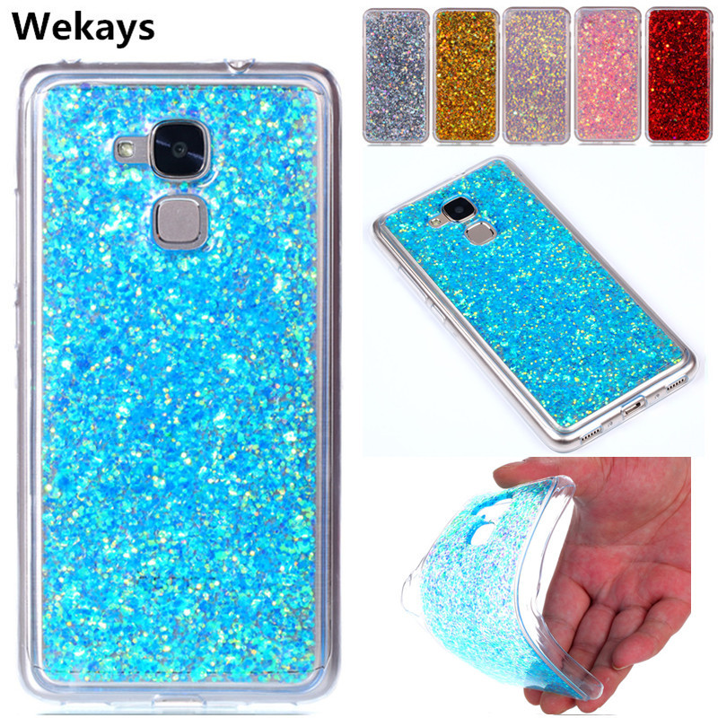Phone Bags & Cases Cute Glitter Cover For Huawei Honor 5c 5 C 7 Lite Gt3 Bling Liquid Quicksand Soft Back Case Nem-l51 Nem-l21 Nmo-l31 Bumper Funda Half-wrapped Case