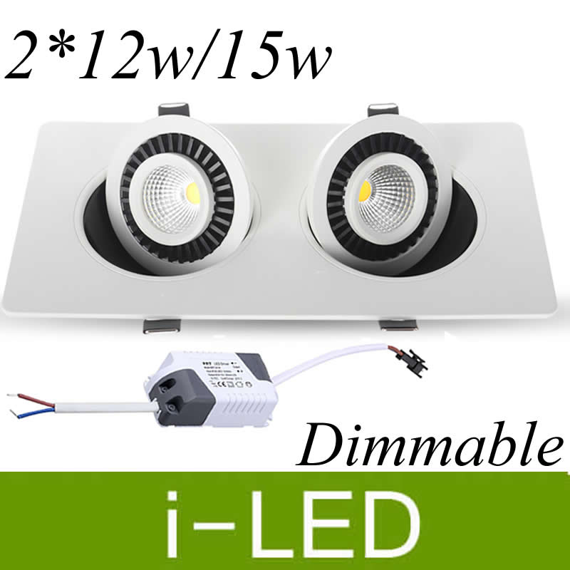 drivers 3 Years Warranty Fcc Ce Excellent Quality New Arrvial Cob Led Recessed Down Lights Dimmable 2x15w Led Fixture Spotlight Lamp Ac110v 220v Led Downlights Led Lighting