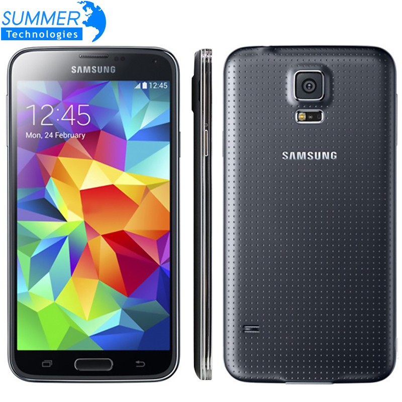 Abierto original samsung galaxy s5 i9600 teléfono móvil 5.1 \