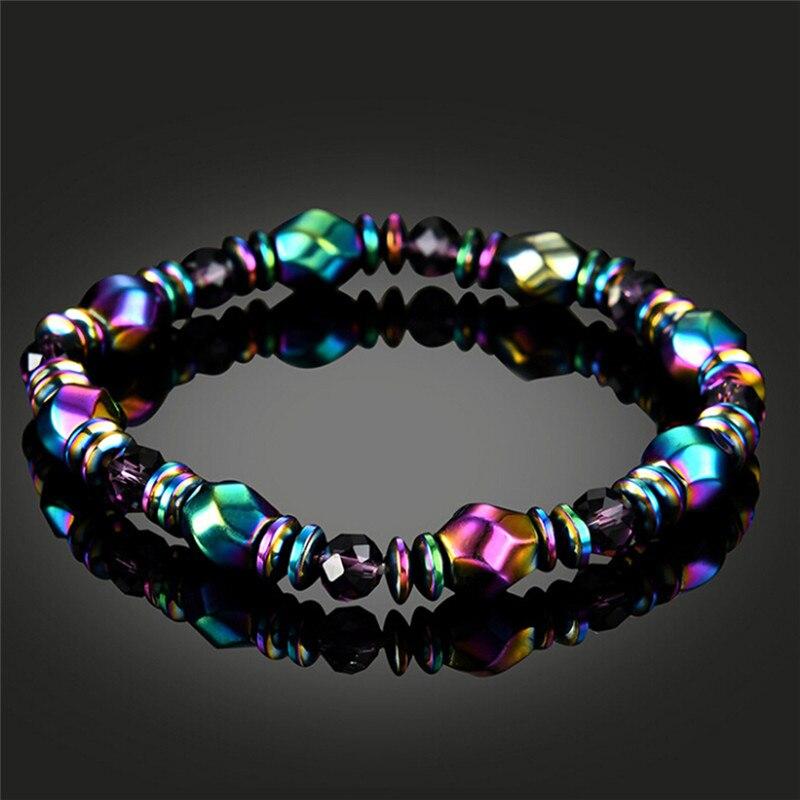 Slimming Product Magnetite Malachite Crystal Healing Bangle Magnetic Hematite Health slimming Bracelet For Women