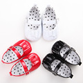 New Sweet PU Leather Sweet Lovely 2016 Newborn Baby Girl Princess Mary Janes Bow Ballet Dress Shoes Bebe Soft Bottom Footwear