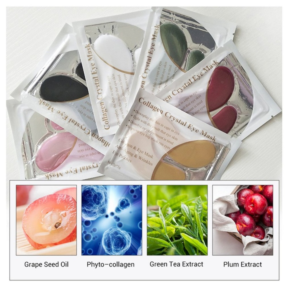 1pair Collagen Protein Eye Mask Eye Patches Removal Dark Circle Anti-Aging Anti-wrinkle Moisturizing Facial Firming Eye Care New