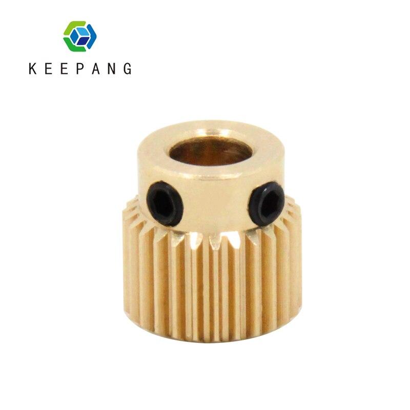 1 Stück 26 Zähne Kupfer Extrusion Kopf Getriebe Bohrung 5mm 3d Drucker Zubehör Teile Durchmesser 11mm Für Mk8 Extruder Teil 26 Zähne Messing