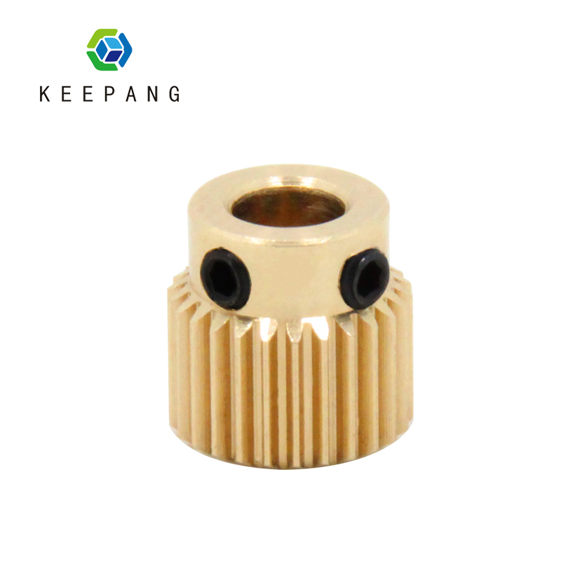 1PC 26 Teeth Copper Extrusion Head Gear Bore 5mm 3D Printers Accessories Parts Diameter 11mm For MK8 Extruder Part 26Teeth Brass