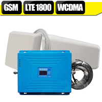 GSM 900mhz DCS 1800mhz WCDMA 2100mhz Tri Band Moblie Signal Booster 4G B3 LTE 1800mhz Repeater