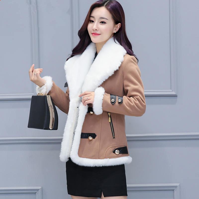 New Short Winter Jacket Women Chaqueta Mujer Fashion Warm Lambs Wool Women Jacket Thicken Cotton Padded Winter Coat   Parkas   C4758