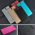 Caixas de metal de luxo para sony xperia c5 ultra e5553 e5506 e5533 duro Alumínio Escovado + PC Material Metal Back Tampa Da Caixa de Telefone