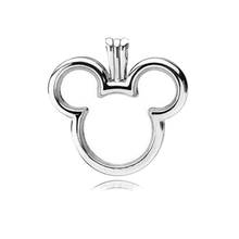 цена 925 Sterling Silver Micky Floating Locket Pendant Charm Fit Original Pandora Necklace for Petite Beads Women DIY Jewelry Gift онлайн в 2017 году